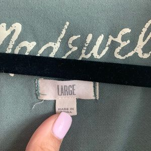 Madewell Tops - Made well faded green Button Up Blouse